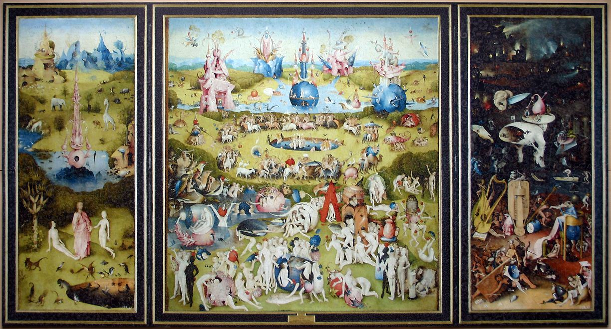 At First, Hieronymus Boschu0027s Famed Triptych U201cThe Garden Of Earthly Delightsu201d  (1503 1515) May Seem Like A Fairly Straightforward Religious Painting.